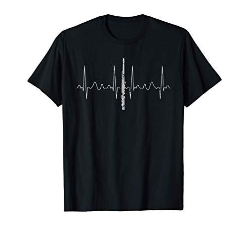 Regalo Latido Del Corazón Para El Músico Orquesta Flauta Camiseta