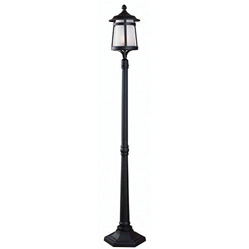 Kenroy Home 93431BL Portable Post 1 Light Lantern