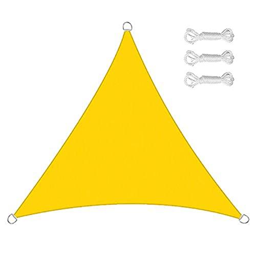 JICAIXIAYA Toldo Vela De Sombra Triangular, Transpirable, Resistente, Vela De Sombra HDPE, Impermeable Protección UV para Patio Exteriores Jardín (5x5x5m,A15)
