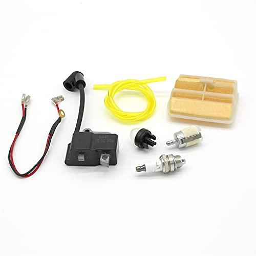 HCO-YU Piezas de Motosierra de Gas de Encendido Bobina de Encendido Magneto Filtro de Aire Manguera de Combustible Kit de Filtro de Combustible Ajuste para Husqvarna 445 450 450E Ajuste para Jonsered