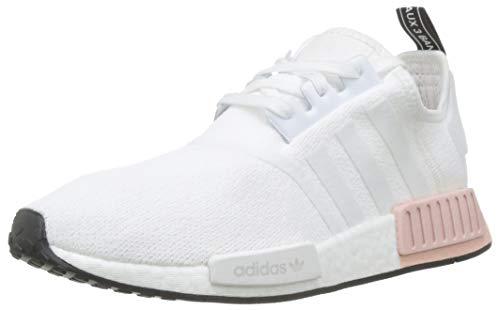 adidas NMD_R1, Scarpe da Ginnastica Uomo, Bianco (Ftwr White/Ftwr White/Vapour Pink Ftwr White/Ftwr White/Vapour Pink), 47 1/3 EU