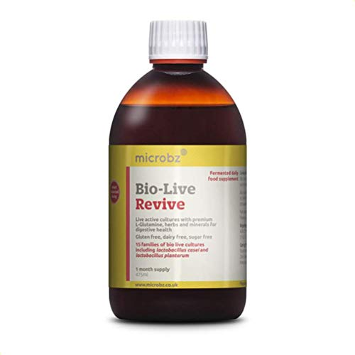 Bio-Live Revive (475ml) Premium Ingredients for Digestive Health - Multi Strain Fermented Liquid Formula with Bio Live Active Natural Cultures for Everyday Oral Use (Single Bottle)