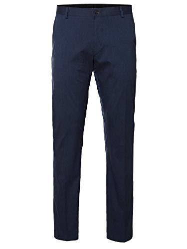 SELECTED HOMME Herren SHDNEWONE-MYLOLOGAN1 Trouser NOOS Anzughose, Grau (medium Blue Melange), 50 (Herstellergröße: 98)