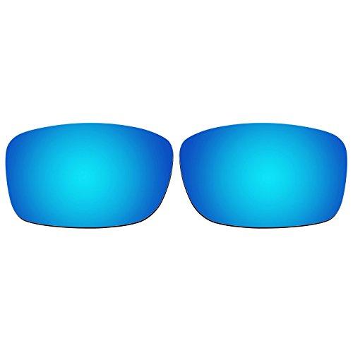 ACOMPATIBLE Ersatz-Objektive für Oakley 5kariert NEU (Jahr 2013) Sonnenbrille Oo9238, Ice Blue Mirror - Polarized, S