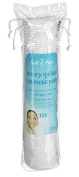 Soft & Pure Lot de 100 tampons de maquillage ronds