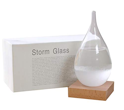 UPSTORE 1PCS Clear Storm Glass Weather Forecast Creative Water Drop Weather Forecasting Weather Stations Weather Predictor Home & Office Desk Decorations Best Christmas Xmas Birthday New Year Gift
