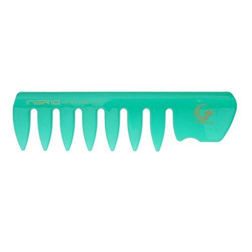 Sharplace Coiffure Bricolage Larges Dents en Plastique Cheveux Frisés Soins Handgrip Peigne - Bleu Foncé