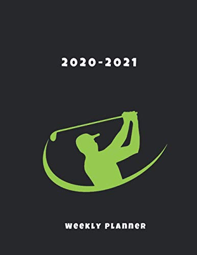 2020-2021 Weekly Planner: 15 Month Agenda Logbook October 2020 - December 2021, Journal Notebook, Large Size 8.5 x 11 with Priorities & To Do List, Goft Cover