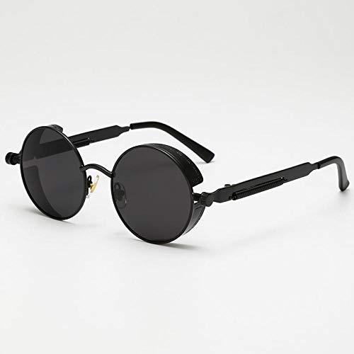Sunglasses Mode Runde Steampunk Sonnenbrille Brand Design Frauen Männer Vintage Steam Punk Sonnenbrille Uv400 Shades 02