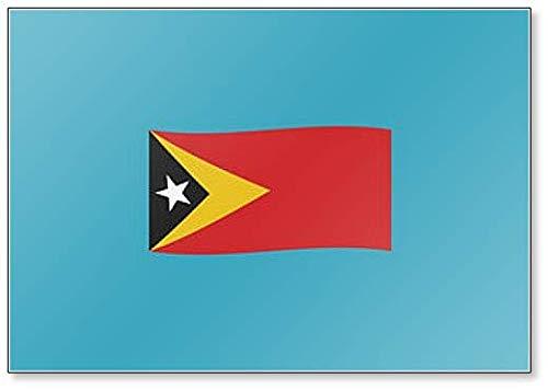 Kühlschrankmagnet, Motiv: Flagge Osttimor