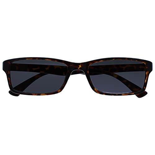 The Reading Glasses Die Lesebrille Unternehmen Braune Schildpatt Sonnen-Leser UV400 Designer Stil Herren Damen S92-2 +1,50