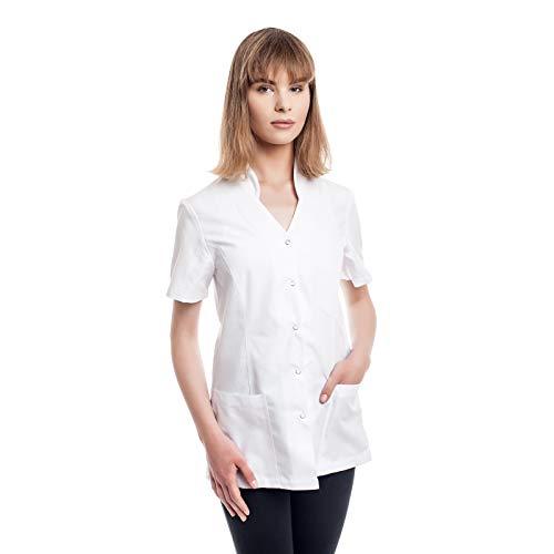 Arztkittel Weiß Damen -7 Weisser Laborkittel Größe (XS -3XL) - Labormantel Perfekt Als Kosmetik, Chemie, Labor, Berufsbekleidung Kittel - Am Besten Für Ärzte, Arzthelferin. Krankenschwester.