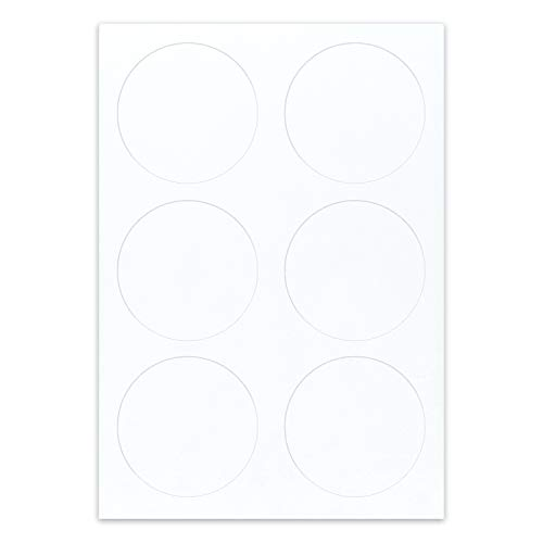 """paper2eat Frosting Sheets Premium (pre-cut Icing Sheets) A4 White Edible Printer Paper - 144 count (3"""" Circles)"""