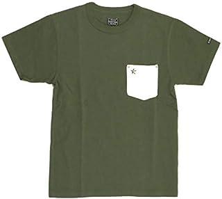 (ショット) Schott レザー ポケット ワンスター Tシャツ クルーネック ストレッチ ポケットTシャツ カットソー メンズ レディース 3193049