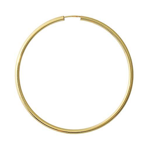 NKlaus Einzeln 333 Gold gelbgold Creole Ohrring Ohrschmuck rund Goldohrring 60mm 9019