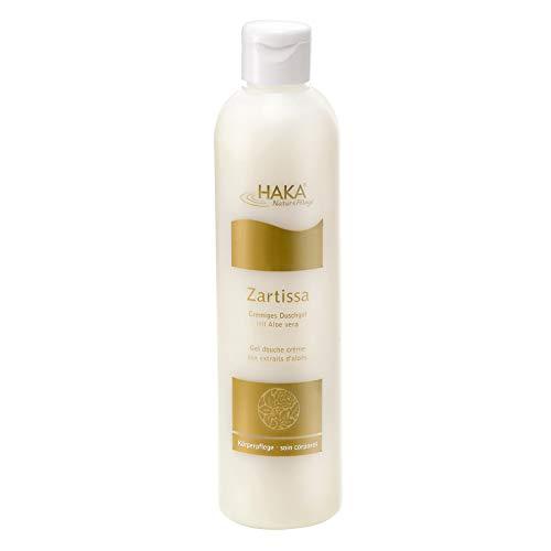 HAKA Zartissa Duschgel l 300 ml l Für eine besonders milde Reinigung l Aloe Vera spendet der Haut Feuchtigkeit und schützt vor Feuchtigkeitsverlust