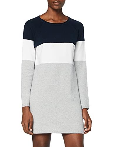ONLY Damen ONLLILLO L/S Dress KNT NOOS Kleid, Mehrfarbig(Night SkyWHITE), Large
