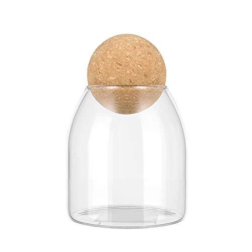 Bestonzon 500ml trasparente vuoto barattoli in vetro, contenitori con tappo in sughero