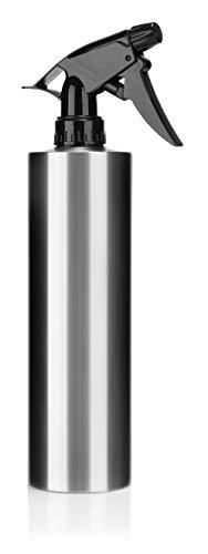 com-four® Pulverizador de Agua, pulverizador Manual para regar Plantas o Cabello, Botella de pulverización de Agua de 500 ml, atomizador de Agua Grande de Acero Inoxidable (1 Pieza - 0.5 litros)
