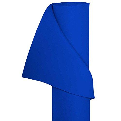 HaGa® Filz Bastelfilz Filzstoff Dekostoff Filzwolle 1,5m Br. (Meterware) in blau