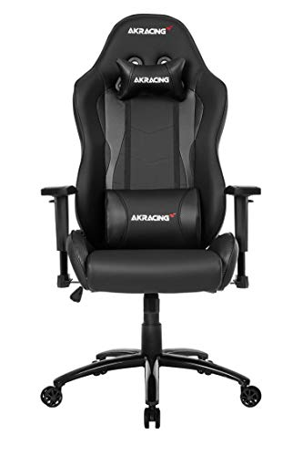 AKRacing NITRO Gaming Chair with High Backrest, Recliner, Swivel, Tilt, Rocker & Seat Height Adjustment Mechanisms, 5/10 Warranty - Carbon Black - PC; Mac; Linux