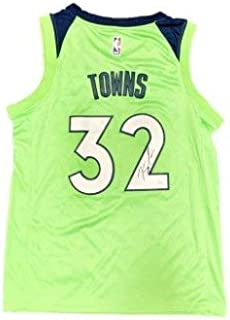 Karl Anthony Towns Autographed Signed Minnesota Timberwolves 2018 City Jersey (Size XL) JSA