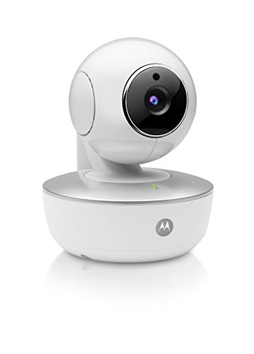 Motorola Focus 88 - HD Telecamera di Sorveglianza WiFi,videocamera Wireless con Visione Notturna, Audio Bidirezionale, Notifiche in tempo reale del sensore di movimento con Motorola Stargrip, Bianco (Macchina Fotografica)