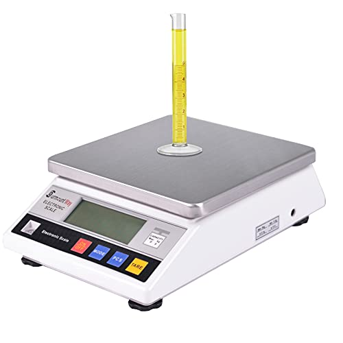 SurmountWay High Precision Scale 5kg x 0.1g Accurate Digtal Laboratory Lab Industrial Scientific Electronic Scale Commerical Counting Kitchen Scales Jewelry Gold Analytical Weighing(5000g,0.1g)