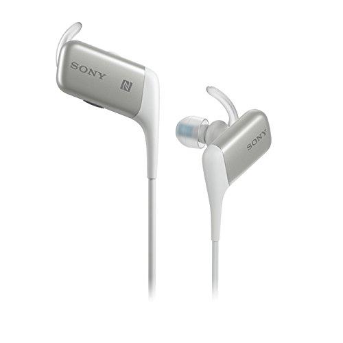 Sony MDR-AS600BT Spritzwassergeschützer Bluetooth In-Ohr-Kopfhörer, NFC, weiß