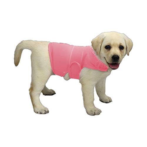 KittyStar Breathable Dog Shirt for Thunderstorm, Dog Anxiety Vest Jacket Warp,Puppy Calming Coat Anxiety Relief (S, Pink)