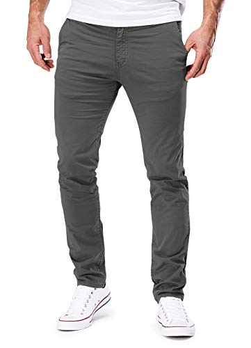 MERISH Chino Herren Slim fit Chinohose Stretch Designer Hose Neu 401 (31-32, 401 Grau)