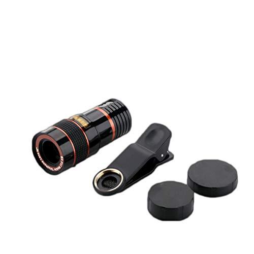 Rouku Lente de telefoto con Zoom 8X Lente de cámara de teléfono móvil Externo con Clip para teléfono Lente Universal Lente de teléfono móvil DSLR