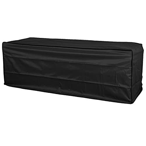Hummelladen Schutzhülle für Rattan 3 Sitzer Sofa Bank - 220 x 80 x 80 cm - schwarz - Abdeckung Gartenbank mit Aufbewahrungstasche - Wasserfest
