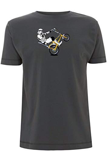 Stormtrooper Riding a Chopper Bike Funny 70s T-shirt in 6 Colours