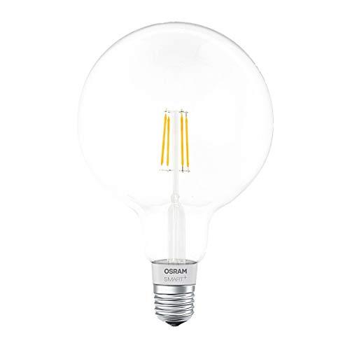 OSRAM Smart+ Ampoule LED à Filament Connectée - Culot E27 - Forme Globe - Dimmable - Blanc Chaud 2700K - 5,5W (équivalent 50W) - Bluetooth - Compatible Siri sur Apple & Alexa sur Android
