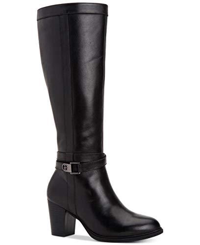 Price comparison product image Giani Bernini Womens Rozario Leather Almond Toe Knee High,  Black,  Size 7.0