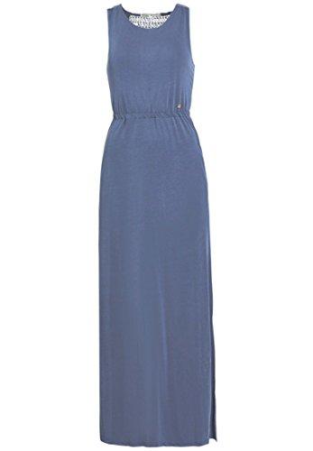 Khujo Caitriona damesjurk van zacht jersey maxi-jurk met afneembare riem mouwloze zomerjurk
