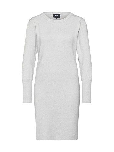 Object Damen Strickkleid OBJELIANNA Carin L/S Knit Dress 105 hellgrauL