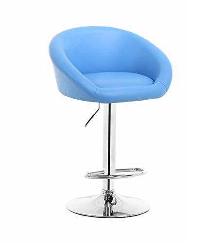 KMMK Bar, cafetería, silla de restaurante, elegante silla de comedor, silla de bar, altura ajustable, cuero artificial, taburete alto, acero cromado, silla de desayuno multicolor, silla de café, ofic