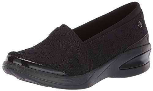 Price comparison product image BZees Women's Flirty Loafer,  Black Floral lace,  8.5 W W US