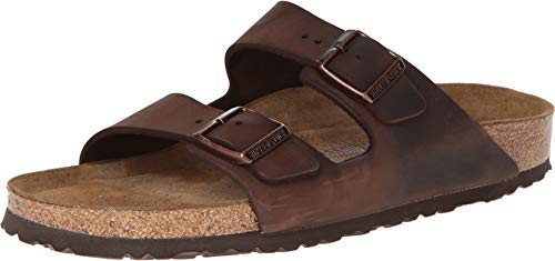 Birkenstock Unisex Arizona Habana Oiled Leather Sandals - 37 N EU / 6-6.5 2A(N) US