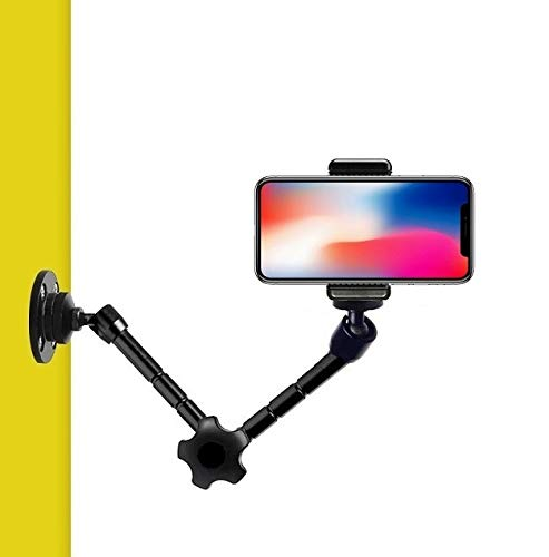 Soporte de pared para teléfono móvil, brazo articulado para iPhone X, iPhone 8, iPhone 8 Plus