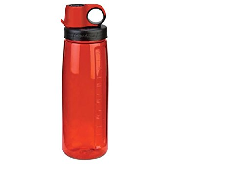 NALGENE Tritan OTG BPA-Free Water Bottle,Lollipop Red, 24 Ounce