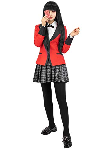 C-ZOFEK Kakegurui Jabami Yumeko Cosplay Costume Girls Japanese School Uniform (X-Small)