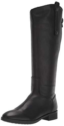 Amazon Brand - 206 Collective Women's Voltan Leather Fashion Boot, Black, 8 Wide Calf B US