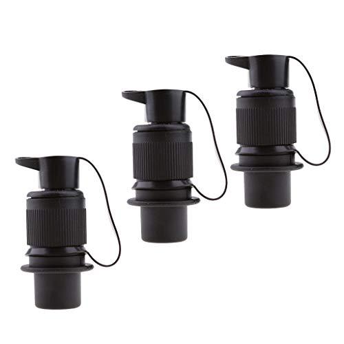 H HILABEE 3 X Wasserdichtes Elektrokabel 3 Poliger Stecker Außensteckdose 12V