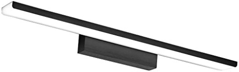 LED-Spiegel-Frontleuchte, moderne wasserdichte Anti-Fog-Badezimmer Spiegel Make-up-Lampe Runde Spiegel Schrank Lichter (schwarz) ( gre   24W 61CM )