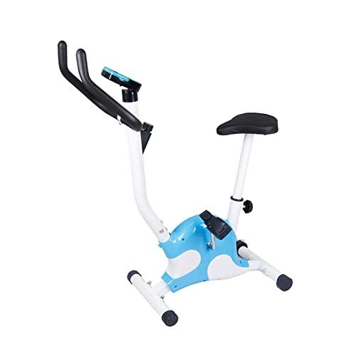 ZCYXQR Bicicleta de Ejercicio giratoria para Uso doméstico Entrenador de Interior para Uso doméstico Bicicleta giratoria portátil con Monitor LCD Manillar y Asiento Ajustables (Deporte de Interior)