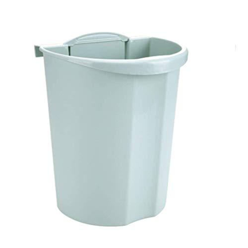 Mini pattumiera,pattumiera sospesa/verticale per cucina e bagno senza coperchio Pattumiera/contenitore,plastica,senza perforazione,senza contatto,a doppio uso.Cestino da scrivania (colore:verde)