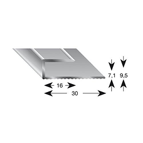 Kügele 11070 S 100 Gleitabschlussprofil U Alu silber eloxiert 7/1000 mm